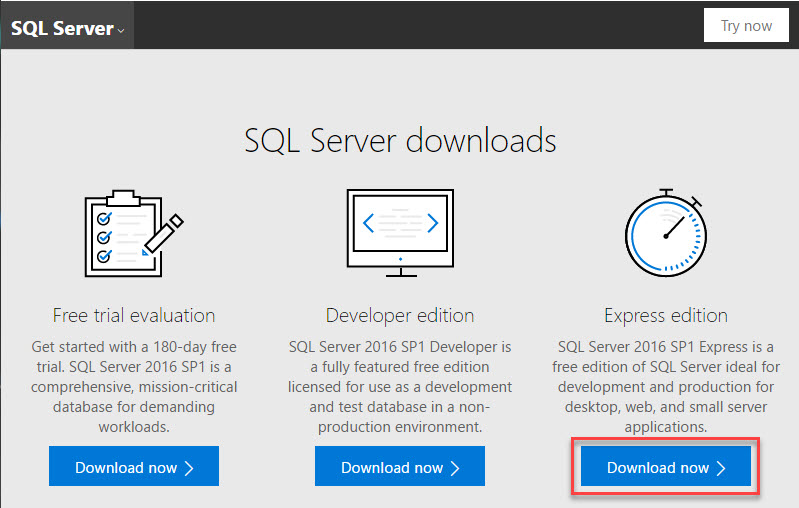 sql server download express