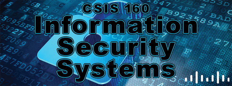 CSIS 160 Information Security Systems