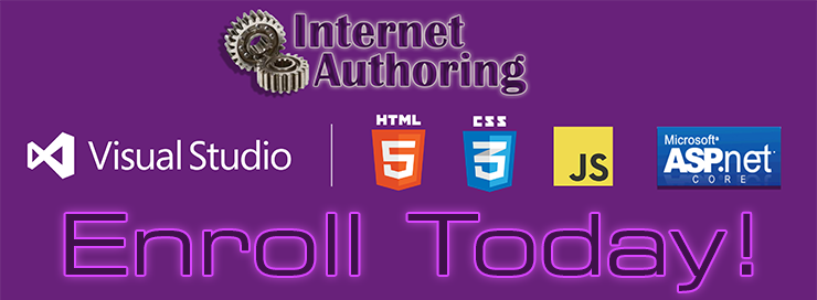 Internet Authoring - Enroll Today